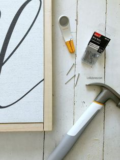 How to frame a canvas (with pictures!) the easy way! Learn how to frame a canvas board for just a couple bucks INCLUDING easy to use tools! Diy Canvas Frame, Framing Canvas Art, Frames For Canvas Paintings, Framed Canvas, Abstract Paintings, Framed Art, Diy Wall Art, Diy Wall Decor, Diy Artwork