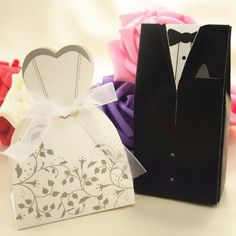 (100 pieces/lot) Bride And Groom Candy Box For Wedding Day - Wedding Look
