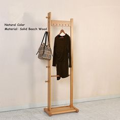 Find More Coat Racks Information about Modern Clothes Racks Stand Oak/Beech Wood 55x175cm Living Room Furniture Portable Bedroom Hat Hanger Standing Wooden Coat Rack,High Quality standing wooden coat rack,China wooden coat rack Suppliers, Cheap coat rack from A dream of Red Mansions Store on Aliexpress.com