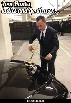 Tom Hanks attempts to turn his limo car into a Rolls Royce… #lol #haha #funny