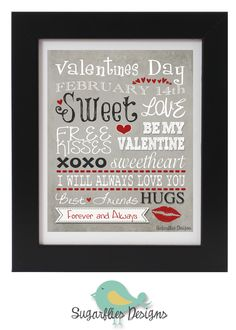 FREE Valentines Subway Art--by Sugarflies Designs #valentinesprintable #freevalentinesprintable