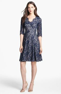 Eliza J Lace Fit & Flare Dress     @Pascale Lemay Lemay Lemay Lemay De Groof