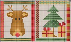Gráficos navideños en punto de cruz | Mimundomanual