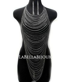 $55.00  I'd never really seen body chains before, but this looks like a great way to simplify the dress and still get the icy/frosty look that I want.