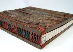 wood book forest woodland handmade journal from ThreeTreesBindery www.etsy.com/... #handmade_books #bindings #wood