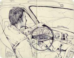 Ilustrações em moleskine de Pat Perry | BLCKDMNDS