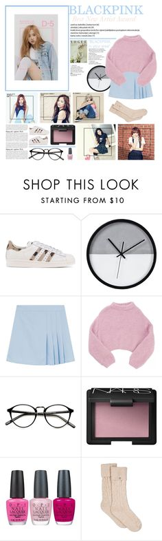 """""""Round 06 - MEMORABLE MOMENTS [ BLACKPINK ] [ BOTB2 ]"""" by julia-ngo ❤ liked on Polyvore featuring adidas Originals, Renwil, Lala Berlin, Nuevo, NARS Cosmetics, OPI and UGG"""