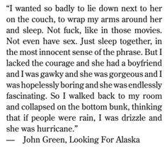 john green- looking for alaska