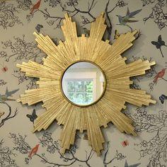 DIY Antiqued Gold Leaf Sunburst Mirror