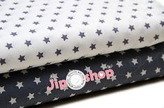 Star fabric in grey and white