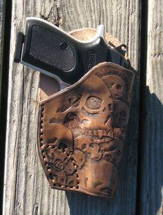 Custom tooled leather holster