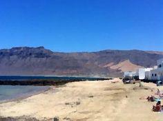 Playa de Caleta de Famara, Lanzarote. Marea baja