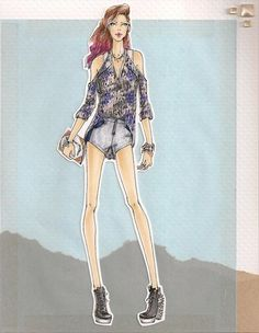 Sketches by Chrystal Lacza, our Assistant Designer of Woven Tops, Bottoms & Outerwear. #artsyfartsy