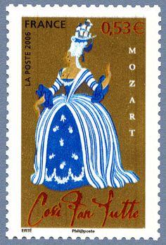 Zoom sur le timbre «Cosi fan tutte - Vienne 1790 - Elles font toutes ainsi Les opéras de Mozart»