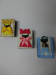 Crafts, Arts And Crafts, Diy And Crafts, Match Boxes, Cellophane Gift Bags, Potatoes, Felt Dolls, Refrigerator, Appliques