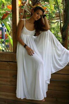 100% Cotton Nightgown Grecian Empire Bodice Full Sweep Bridal Summer Cruise Lingerie  Sleepwear Wedding Lingerie 3dc93c373
