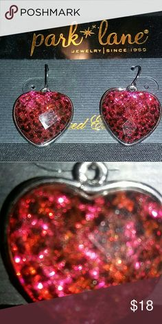 Park Lane 'Betsy' Earrings This Designer-inspired, fun and feminine ensemble features fusia-colored, leopard print pattern encased in faceted overlay. Fishhook style. Never worn. Park Lane  Jewelry Earrings