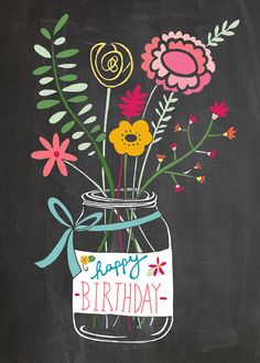 jam-jar-flowers-chalkboard.jpg (571×800) --- http://tipsalud.com ----- More