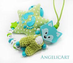 Baby ✿ Schnullerkette Mit Namen✿ Kleine Füße ✿ Babyblau ✿ Junge ✿ Geschenk ✿ Baby ✿ Weitere Rabatte üBerraschungen