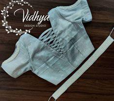 Blouse Designs High Neck, Blouse Designs Silk, Blouse Patterns, Blouse Designs Catalogue, Myanmar Dress Design, Indian Fashion Dresses, Sleeve Designs, Indian Wear, Designer Dresses