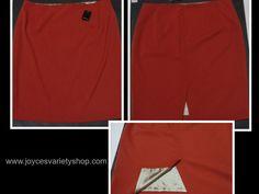 Tahari Dani Skirt Size 14 Copper Wire Color Lined