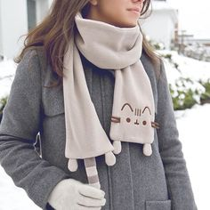 Stay warm on those cold winter nights with this Pusheen Scarf! It's available exclusively in the Winter Pusheen Box! Limited quantities left! #pusheen #pusheenbox #winter #scarf