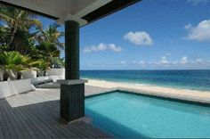 Beachfront Luxury Villa Vacation Rentals with private pool - Baie Rouge beach - St Martin - Terres Basses - FWI    http://saint-martin-locations.blogspot.fr/