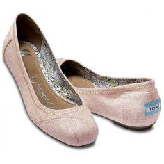 TOMS Linen Ballet Flats Natalia Rose - CUTE