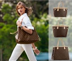louis-vuitton-neverfull-mm-monogram-brown-shoulder-bag-tote-shopper-Louis-Vuitton-lv-
