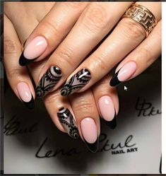 Gel Polish Manicure, Nail Polish Art, New Nail Art, Beautiful Nail Art, Gorgeous Nails, Pretty Nails, Art Simple, Lace Nails, Nail Ring