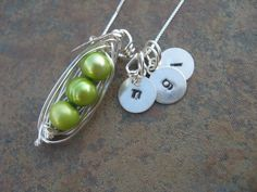 Custom Pea Pods with Initials