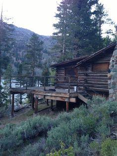 River cabin at gloaming
