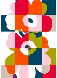 New Ruutu-Unikko Textile Pattern by #Marimekko