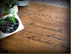 postcard table