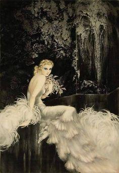 Louis Icart - Orchids (1937)