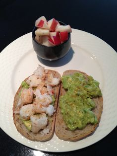 With my broiled lobster tails I made a lobster and avocado sandwich on rye bread. I added lime juice, celery, finely diced jalapeno, cajun mustard, and S/P. Served with a side of white peaches. Yum!