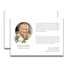 carte de remerciement décès avec photo Les 59 meilleures images de Carte remerciement de deuil | Carte