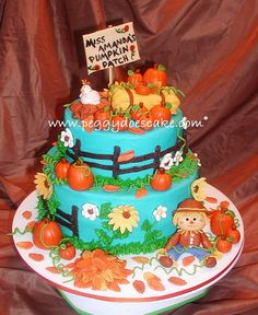 Kindergarten Pumpkin Patch Cake by peggyslee, via Flickr