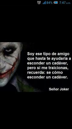 No me traicionen que doy miedo O Joker, Joker And Harley Quinn, Joker Frases, Joker Quotes, Tumblr Quotes, Me Quotes, Christian Messages, Motivational Phrases, Cool Words