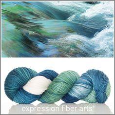 Stream - dewy dk yarn by expression fiber arts