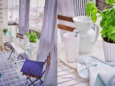 balcony, scandi interior , blue, white, natural ,marine