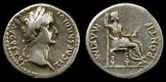 """Tribute penny of the Bible: """"...Render unto Caesar that which is Caesar's, and to God what is God's."""" - Jesus. Tiberius Caesar coin,minted during the ministery of Jesus."""