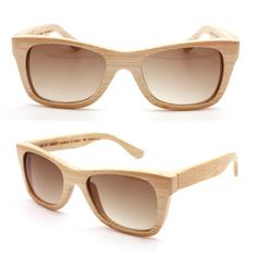 This might be taking the wood trend a little far.  Bamboo sunglasses.