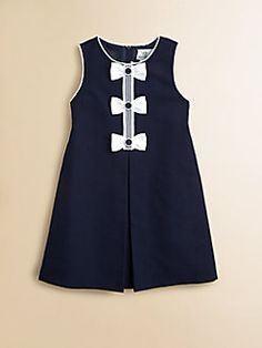 Florence Eiseman    Toddler's & Little Girl's Pique Bow Dress  $98.00 - $102.00
