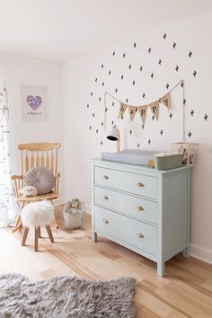 Chambre bébé lumineuse