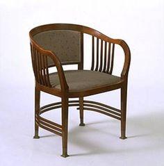 J M Olbrich, chaise pour le salon de musique de Friedrich Spitzer à Vienne, 1899