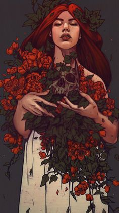 Maria Nguyen Illustration Poison Ivy by Maria Nguyen Tag Art, Illustrations, Illustration Art, Character Inspiration, Character Art, Dessin Old School, Arte Obscura, Arte Sketchbook, Pretty Art
