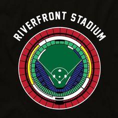 ec209dbcf Riverfront Stadium Seating Chart Unisex T-shirt Cincinnati Baseball, Rose  Shirts, World Series