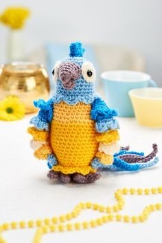 FREE CROCHET PATTERN: Diego the parrot from LGC Knitting & Crochet magazine issue 68