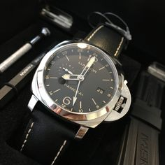 Go pro with the Panerai Luminor 1950 3 Days GMT 24HR Watch  Get it now!